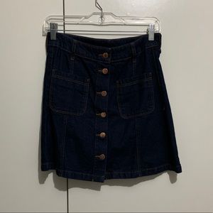 H&M Divided Denim Button Up Skirt